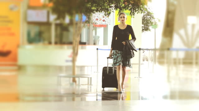Female Traveller at Terminal
