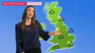 female tv weather presenter