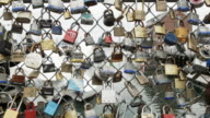'Fence of love' is apart of the Love Locks Project in Portland Maine