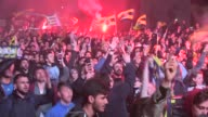 Fenerbace fans celebrate after thier team won the Turkish Airlines Euroleague Final Four Championship match against Olympiacos on May 21 2017 in...