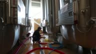 Fermenting tanks containing Prosecco wine stand at Cantina Sociale Cooperative Agricola di Vittorio Veneto winery in Conegliano Italy on Friday Nov 6...