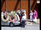 Fernando Alonso and his wife Raquel del Rosario attend the funeral of Formula 1 driver's grandmother Luisa Alvarez three days before Formula 1 World...