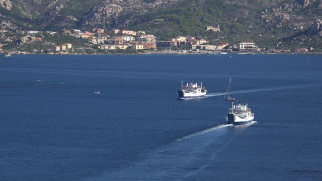 Ferries crossing the sea