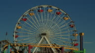 WS Ferris wheel and roller coaster / Santa Monica, California, United States