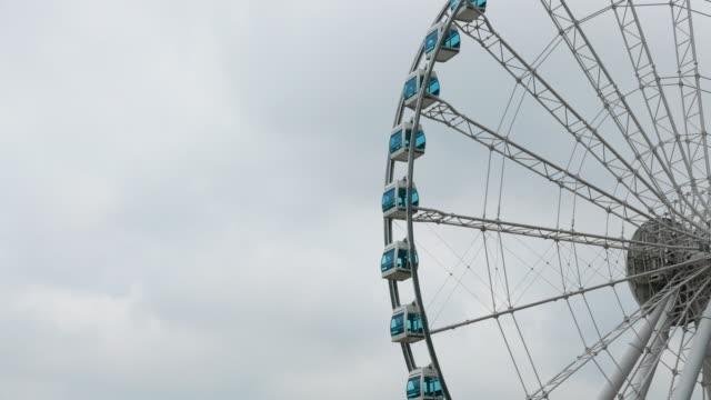 Ferris Wheel And Skyscraper , Hong Kong