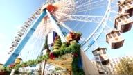 Ferris wheel at christmas time