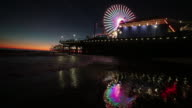 Ferris Wheel at the amusment park at the Santa Monica Pier in Los Angles California