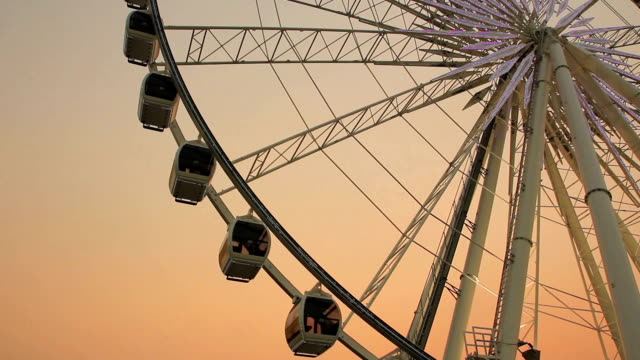 Ferris wheel in evening