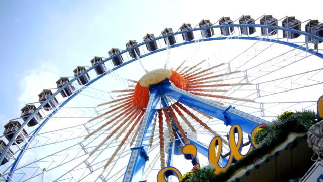 Ferris Wheel On Oktoberfest Fairgrounds (4K/UHD to HD)
