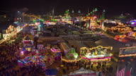 Ferris wheel upwards in Parish fair /amusement park