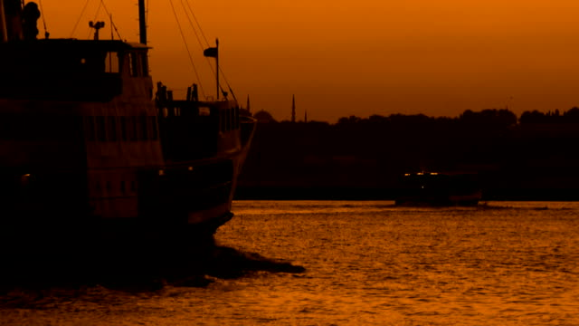 Ferry at twilight