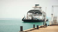 Ferry boat arrives at port