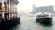 Ferry Transports People on Water (Sea)