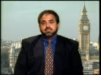 9th man held LIVE ENGLAND London Westminster Lord Ahmed interview SOT if someone has been plotting against this country their immigration status can...