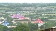 Festival goers have set up camp on the first official day of the Glastonbury Festival of Music and Performing Arts in Somerset South West England