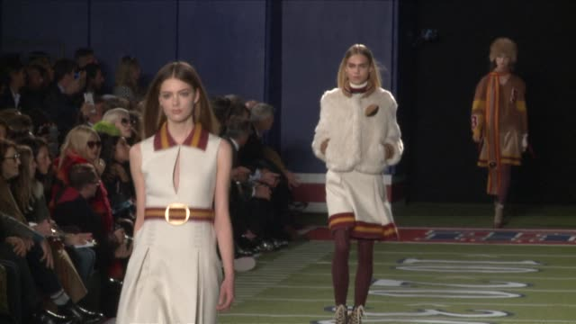 Feted designer Tommy Hilfiger dominated New York Fashion Week on Monday with a spectacular catwalk show inspired by American football to celebrate...