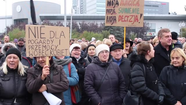 Few thousands people protested in Gdynia on October 23 2016 northern Poland against a legislative proposal for a total ban on abortion in Poland...
