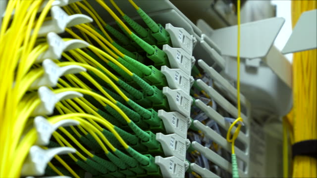 Fiber Patch cord in network room