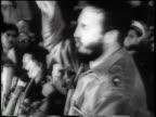 Fidel Castro giving impassioned speech / newsreel
