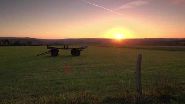 CRANE UP: Field Sunset