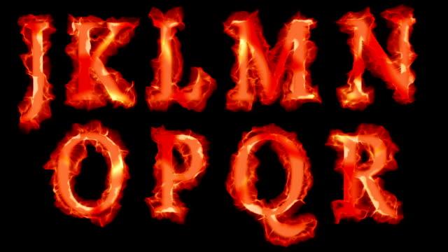 Fiery fonts