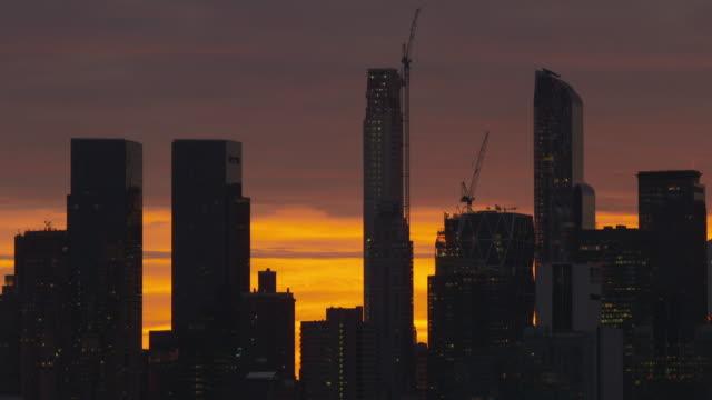 Fiery Manhattan Skyline Dawn