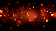 Fiery red embers background loopable