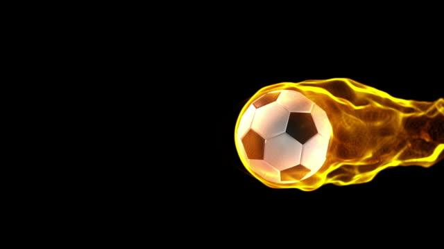 Fiery Soccerball moving across