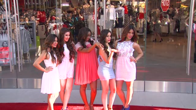 Fifth Harmony at Topshop Topman LA Grand Opening At The Grove in Los Angeles CA on 2/14/13