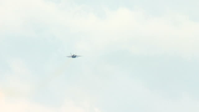 F18 Fighter Airplane going on Afterburner