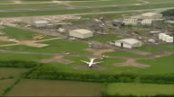 Fighter jets scrambled following incident on PIA passenger aircraft two men arrested ENGLAND Essex Stansted EXT Various AERIAL shots Pakistan...