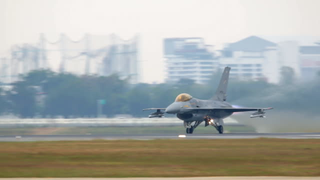 Fighter Plane Taking Off.