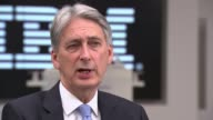 Economy grew by 03 per cent in second quarter ENGLAND London IBM INT Philip Hammond MP interview SOT We'll discuss these things in the autumn and I...