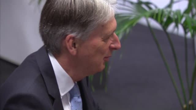 Economy grew by 03 per cent in second quarter London IBM Philip Hammond MP arriving at IBM Various shots of Hammond chatting to workers Philip...