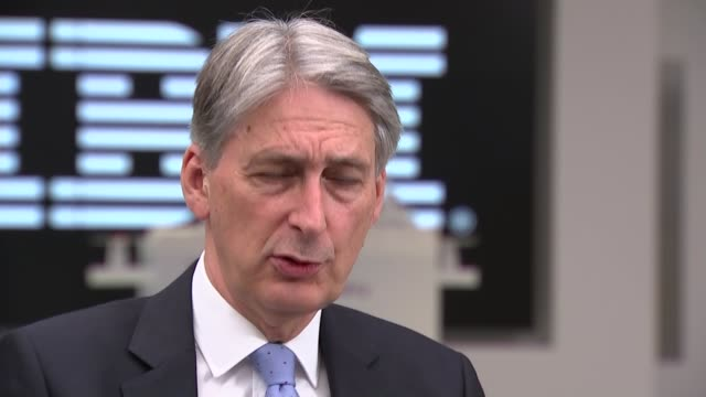 Philip Hammond interview ENGLAND London IBM INT Philip Hammond MP interview re GDP figures SOT