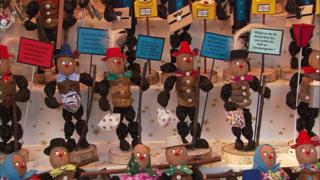 CU PAN Figurines for sale at Christkindlesmarkt (Christmas market) / Nuremberg, Bavaria, Germany