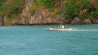 Filipino couple travelling from one island to another