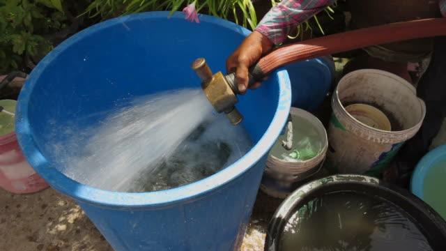 Fill Water In Blue Tank