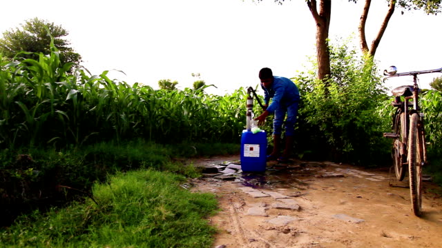 Filling fresh water in the container