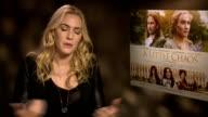'A Little Chaos' Kate Winslet and Alan Rickman junket interviews ENGLAND London INT Kate Winslet interview SOT