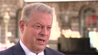 'An Inconvenient Sequel' premiere ENGLAND London Somerset House EXT Al Gore interview SOT re Tangier Island Donald Trump and withdrawal from Paris...