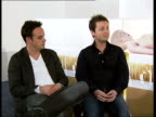 Ant Dec interview Declan Donnelly interview SOT Anthony McPartlin interview SOT if we row it's after a few drinks and usually about music or football