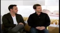 Ant Dec interview ENGLAND London INT Declan Donnelly interview SOT they sent us the scripts lulling us into a false sense of security and then made...
