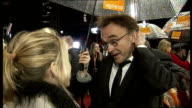 London EXT / NIGHT Danny Boyle interview on red carpet with reporter in shot SOT On Slumdog Millionaire / speaks of the young actors in the film Dev...
