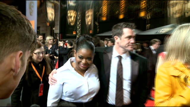 celebrity arrivals Octavia Spencer and Tate Taylor interview SOT On being a big crier at the movies / on it taking a great team to work on a movie...