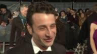 red carpet arrivals Justin Hurwitz interview SOT Harvey Weinstein along / Sophie Turner along Noel Clarke interview SOT Aaron TaylorJohnson along