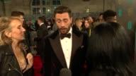 red carpet interviews BAFTA Film Awards 2017 red carpet interviews ENGLAND London Kensington Royal Albert Hall EXT / NIGHT Nicole Kidman on red...