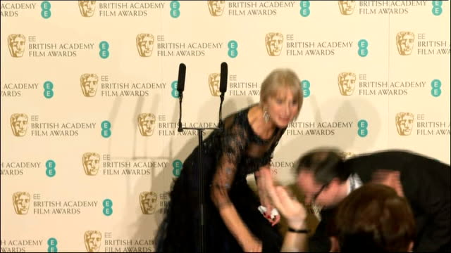 Bafta Awards 2014 Winners press conference Helen Mirren SOT / Chiwetel Ejiofor SOT / Alfonso Cuaron SOT