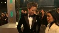 BAFTA Awards 2015 ENGLAND London Royal Opera House BAFTA Awards EXT Eddie Redmayne general views Eddie Redmayne interview SOT JK Simmons general...