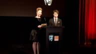 BAFTA Film Awards 2012 nominations announcement and interviews ENGLAND London INT Tim Corrie SOT introduction of Holliday Grainger and Daniel...